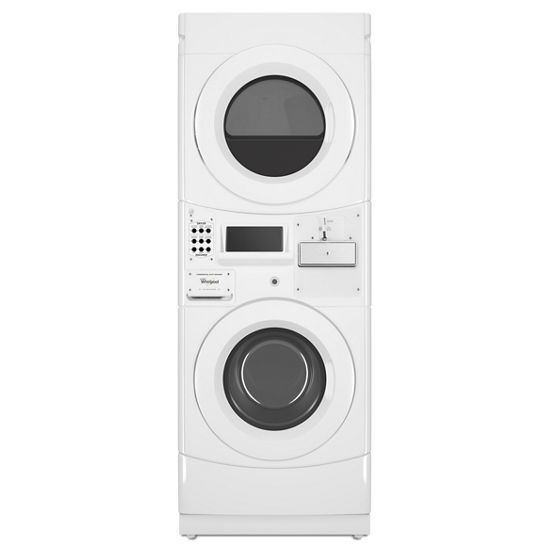Whirlpool Commercial Electric Stack Washer/Dryer, Coin Equipped