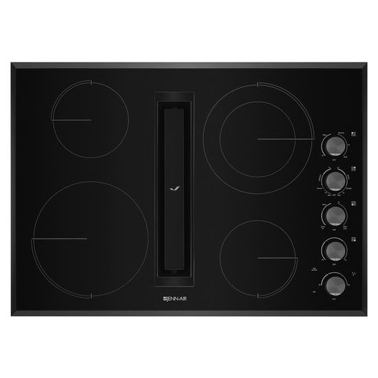 "Jenn-Air Black Floating Glass 30"" JX3™ Electric Downdraft Cooktop"