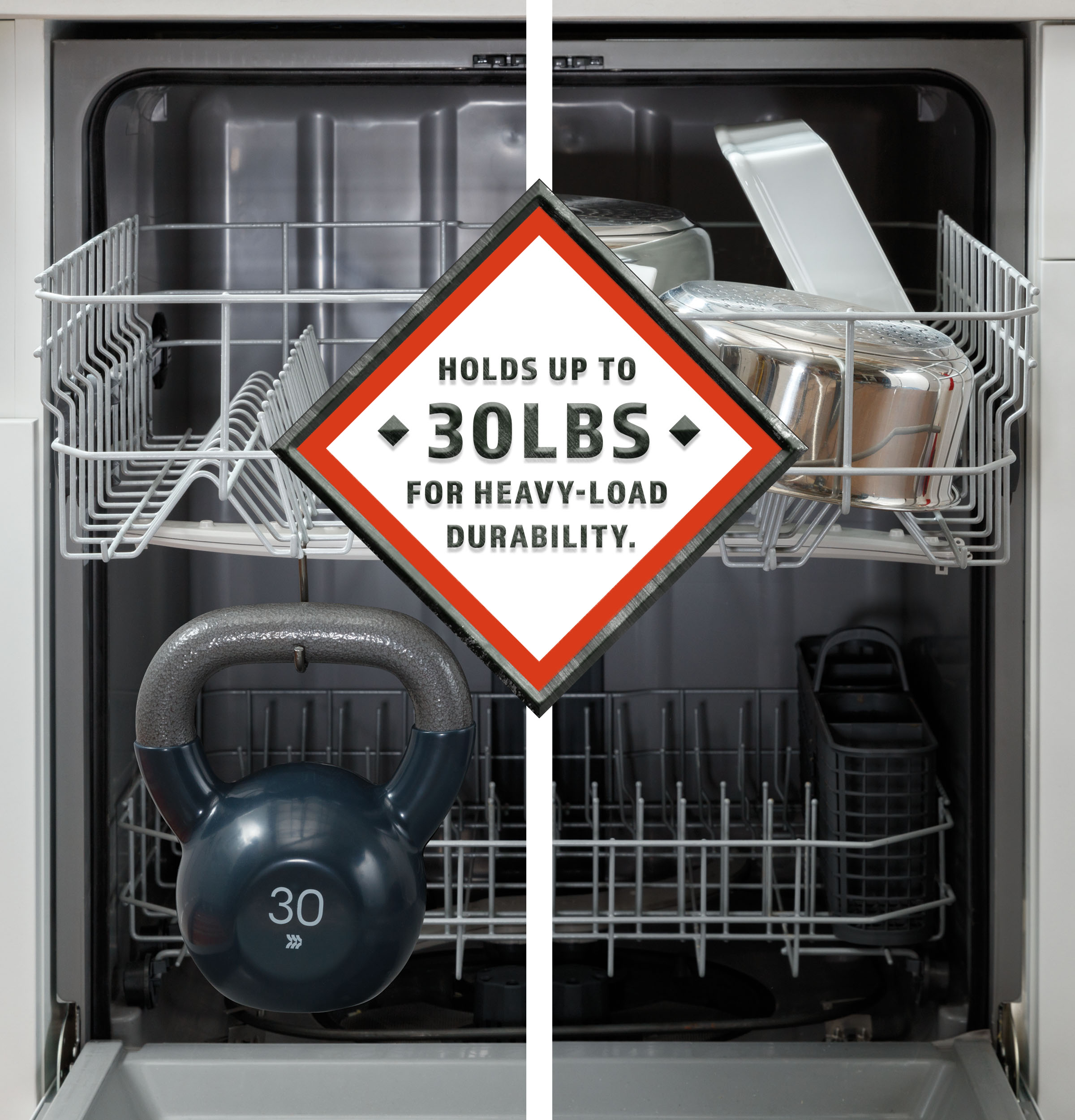 Model: HDF310PGRBB   Hotpoint Hotpoint® One Button Dishwasher with Plastic Interior