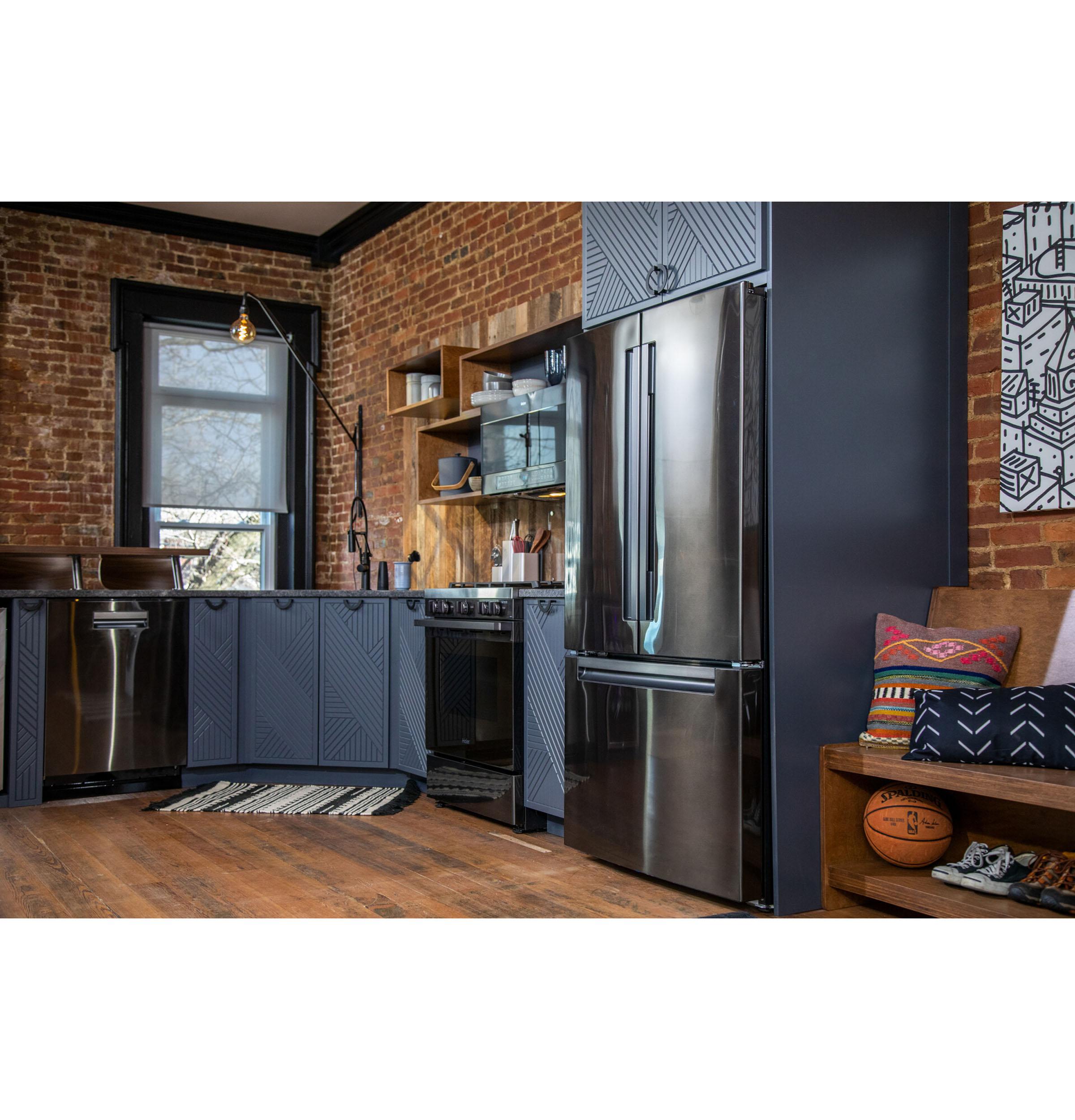 Model: QNE27JBMTS | Haier ENERGY STAR® 27.0 Cu. Ft. French-Door Refrigerator
