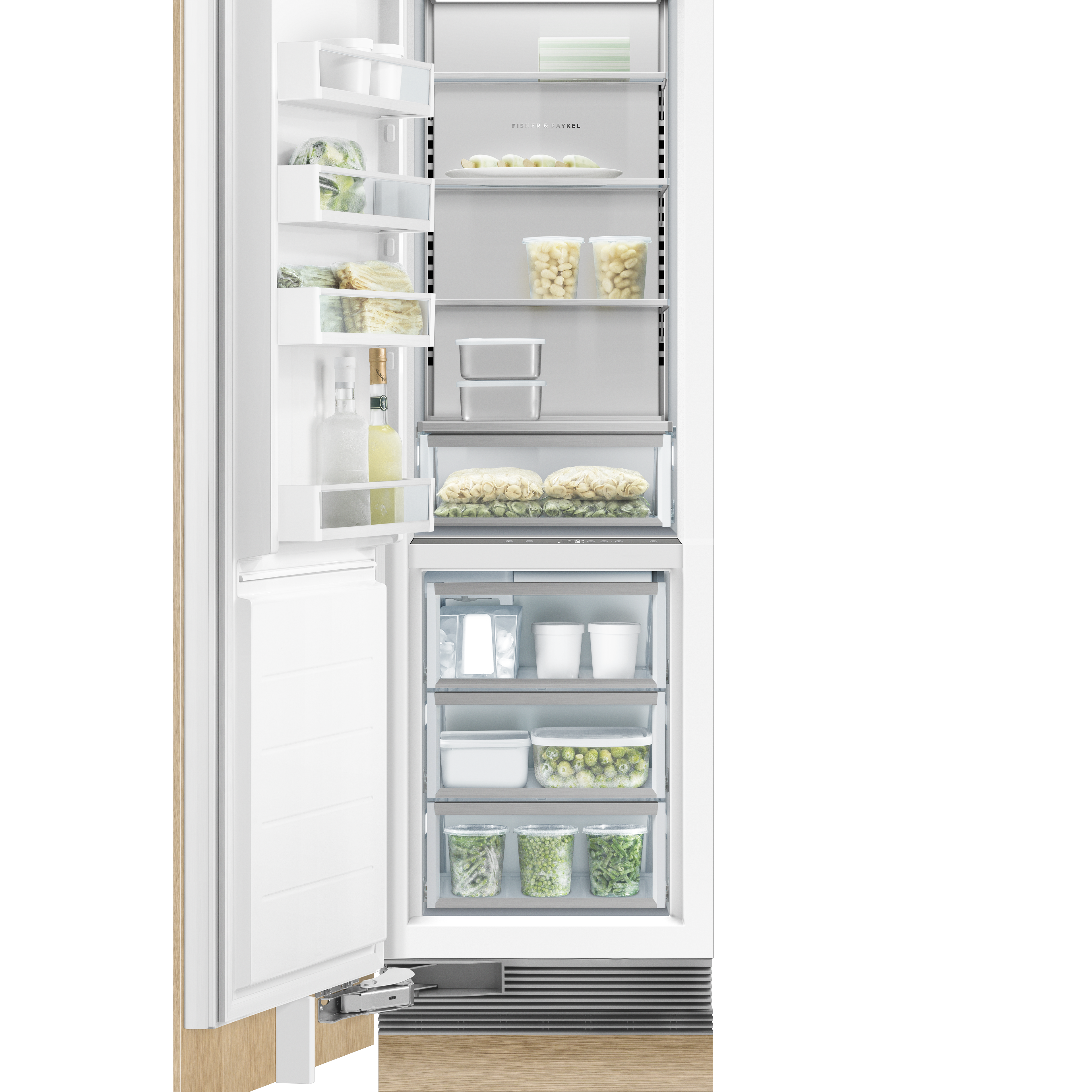 "Fisher and Paykel Integrated Column Freezer, 24"", Ice"