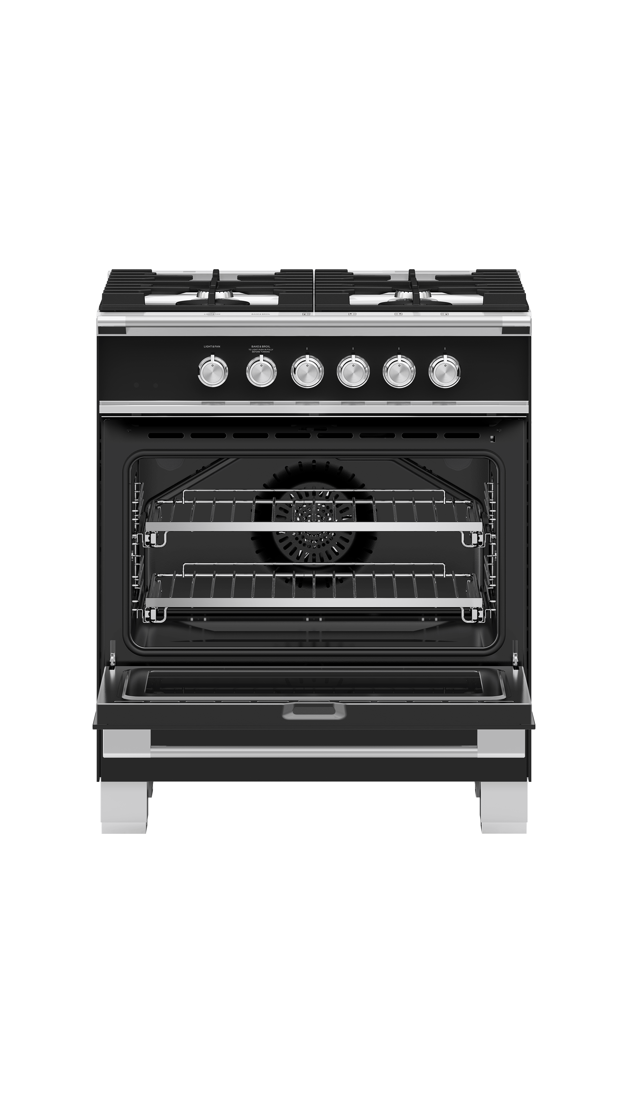 "Fisher and Paykel Gas Range, 30"", 4 Burners"
