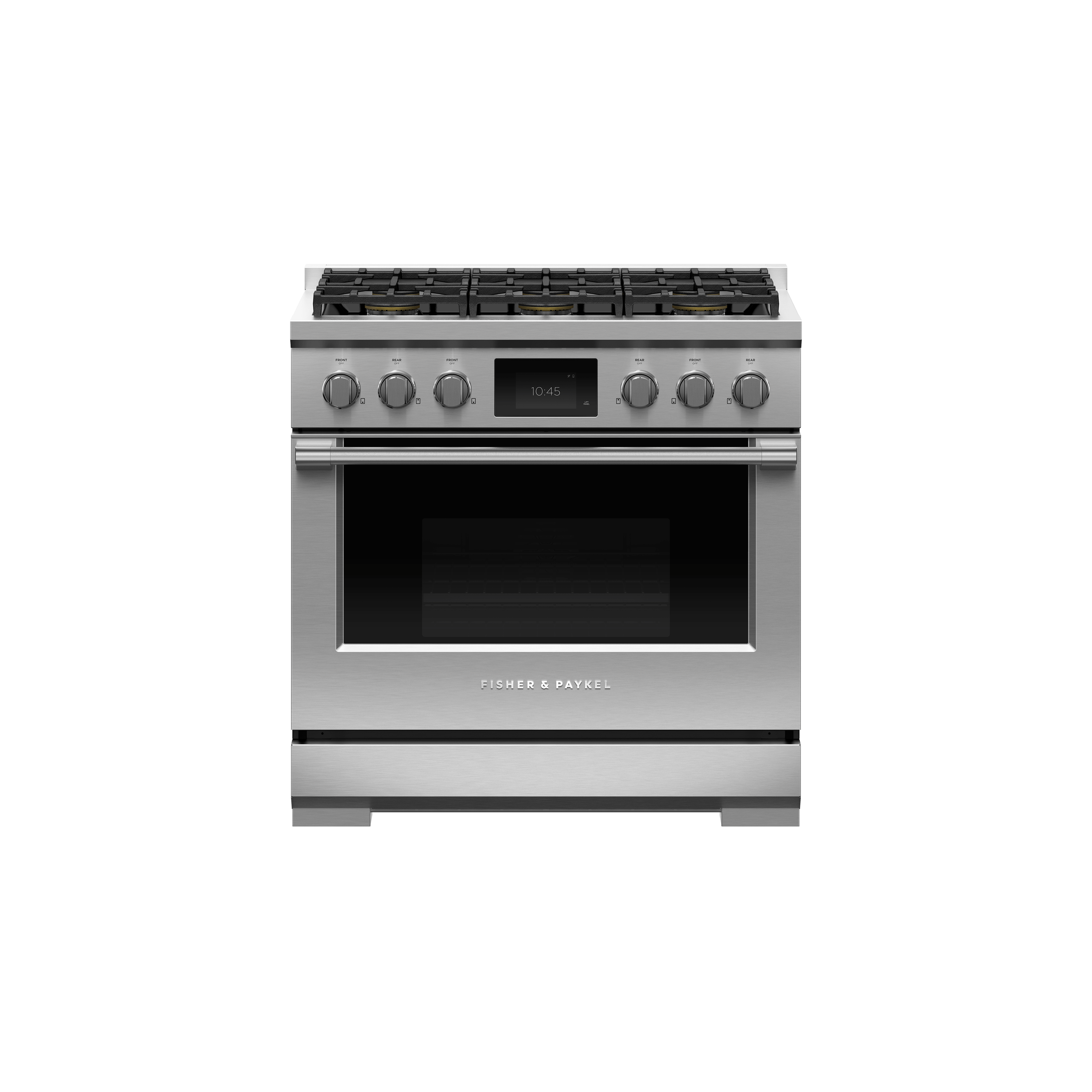 """Fisher and Paykel Dual Fuel Range, 36"""", 6 Burners, Self-cleaning, LPG"""
