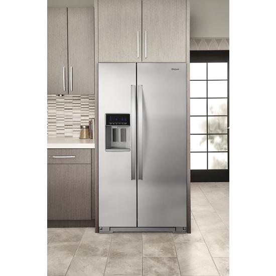 Model: WRS571CIHZ | Whirlpool 36-inch Wide Counter Depth Side-by-Side Refrigerator - 21 cu. ft.
