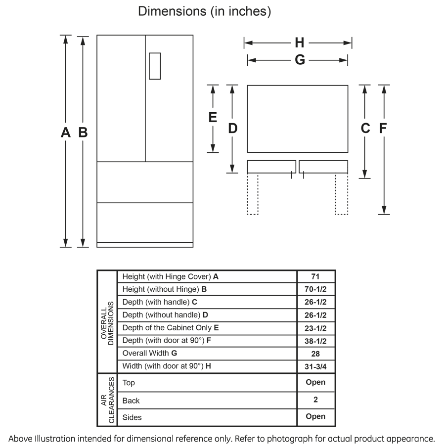 Model: HRF15N3AGS   Haier 15.3 Cu. Ft. French Door Refrigerator