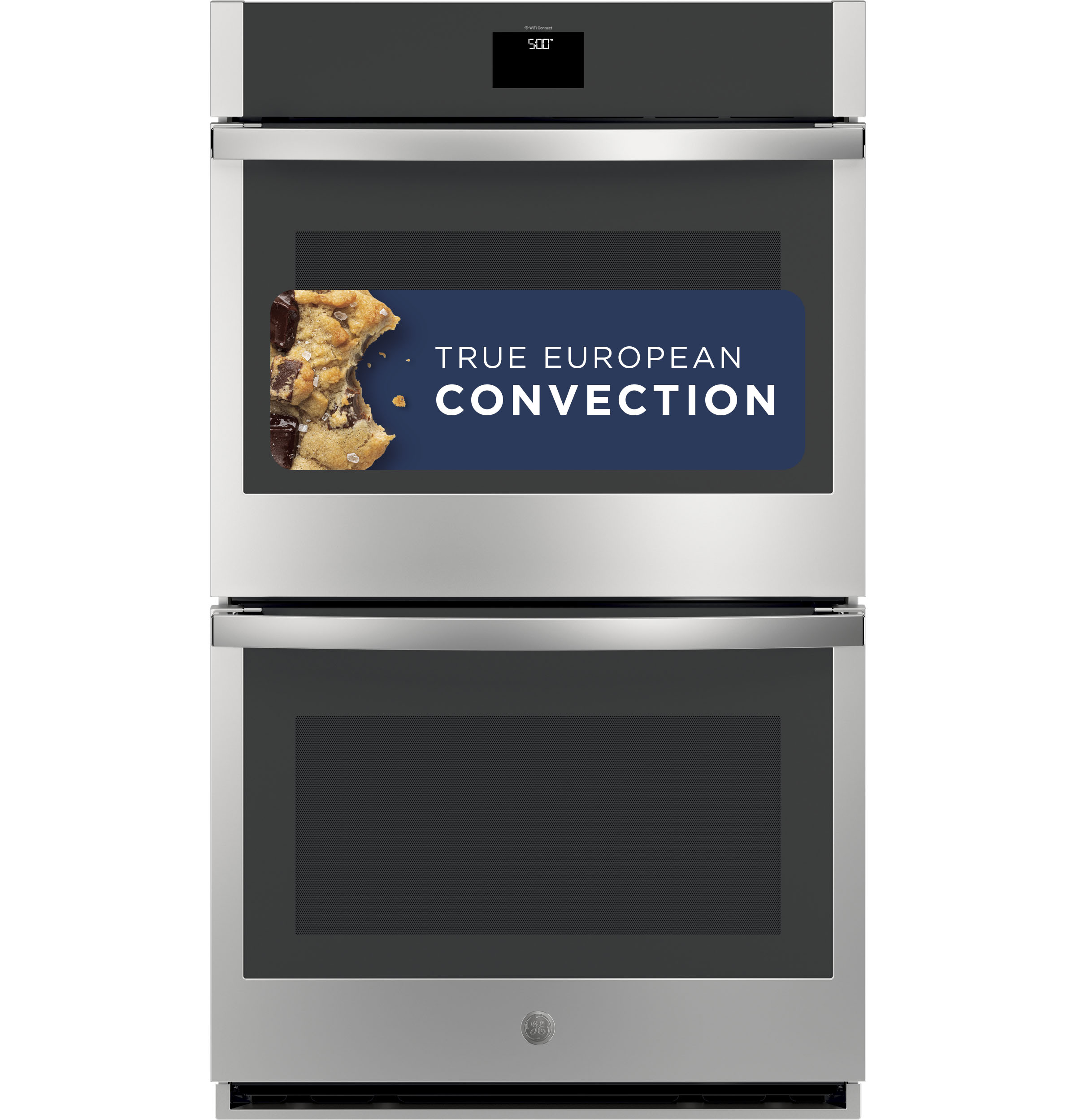 "Model: JTD5000DNBB | GE GE® 30"" Smart Built-In Self-Clean Convection Double Wall Oven with Never Scrub Racks"