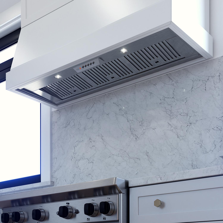 """XO Appliances 33"""" 600/395 CFM Pro Insert only 15"""" Deep For Custom Built Hood, Stainless"""