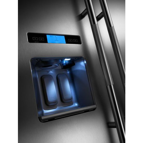 """Model: JS42PPDUDE   Jenn-Air 42"""" Built-In Side-by-Side Refrigerator with Water Dispenser"""