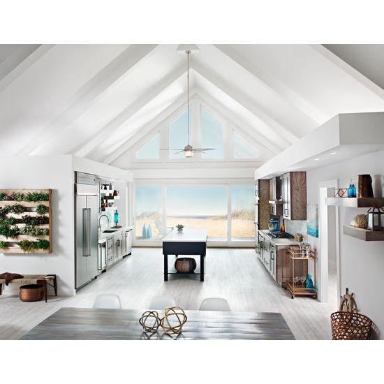 Model: KBSN608ESS | KitchenAid 30.0 cu. ft 48-Inch Width Built-In Side by Side Refrigerator with PrintShield™ Finish