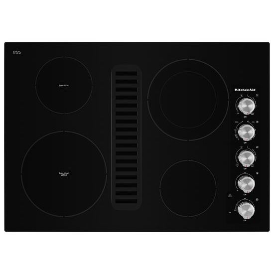 """KitchenAid 30"""" Electric Downdraft Cooktop with 4 Elements"""