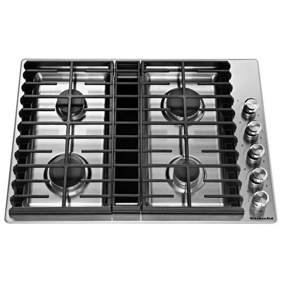 "Model: KCGD500GSS | KitchenAid 30"" 4 Burner Gas Downdraft Cooktop"