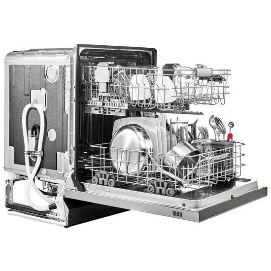 Model: KDFE104HPS | KitchenAid 46 DBA Dishwasher with ProWash™ Cycle and PrintShield™ Finish, Front Control