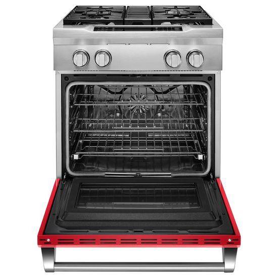 Model: KDRS407VSD | KitchenAid 30'' 4-Burner Dual Fuel Freestanding Range, Commercial-Style
