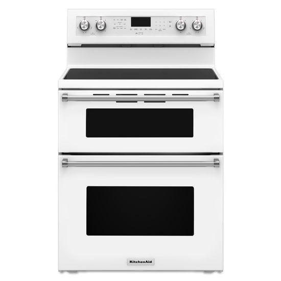 KitchenAid 30-Inch 5 Burner Electric Double Oven Convection Range