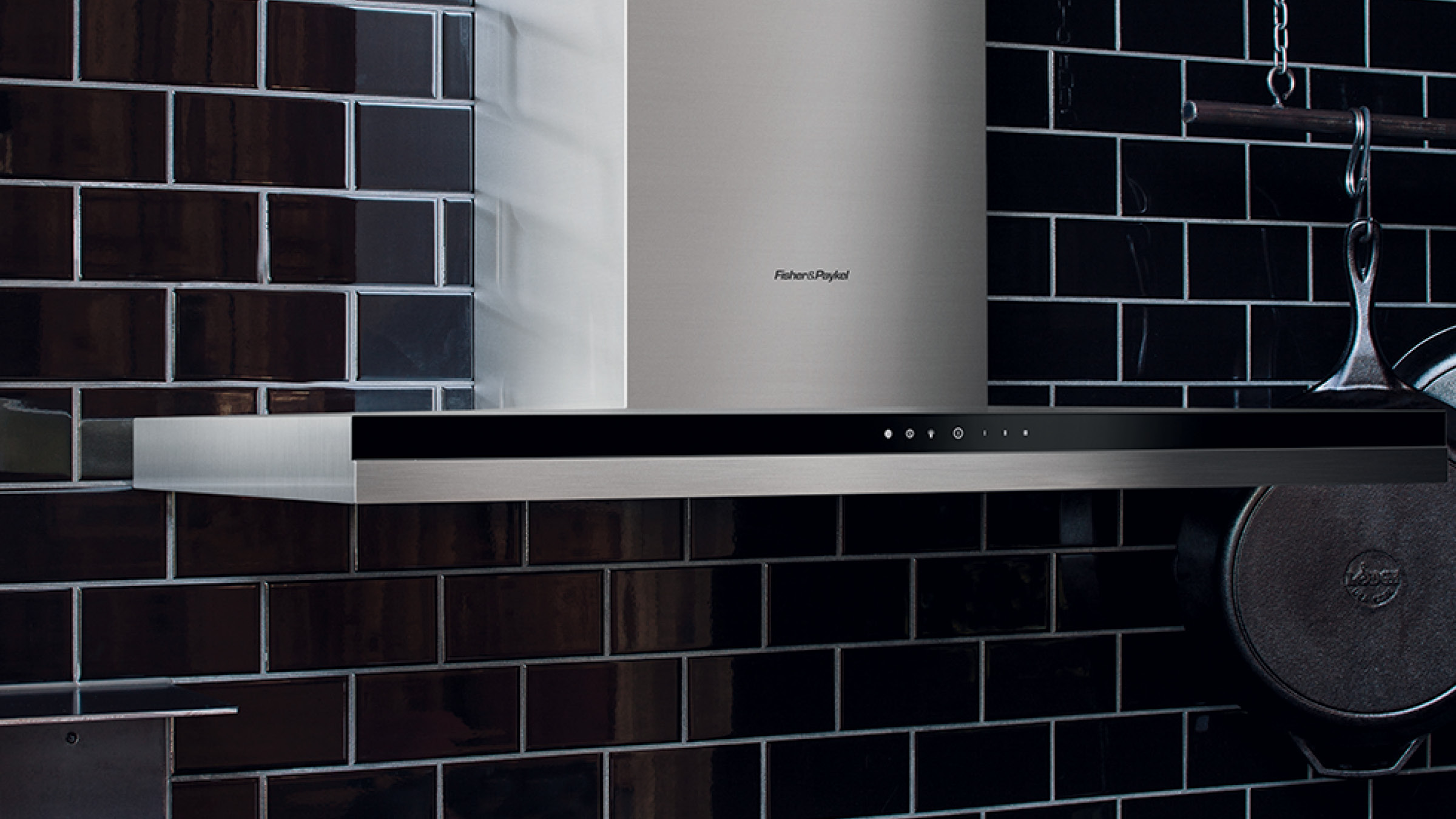 """Fisher and Paykel Wall Range Hood, 24"""", Box Chimney"""