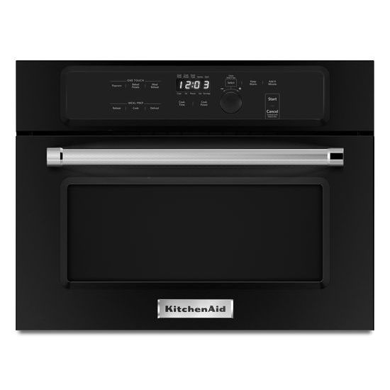 "Model: KMBS104EBL | KitchenAid 24"" Built In Microwave Oven with 1000 Watt Cooking"