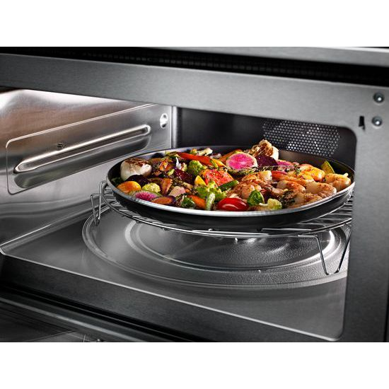 """Model: KOCE507EWH   KitchenAid 27"""" Combination Wall Oven with Even-Heat™  True Convection (lower oven)"""