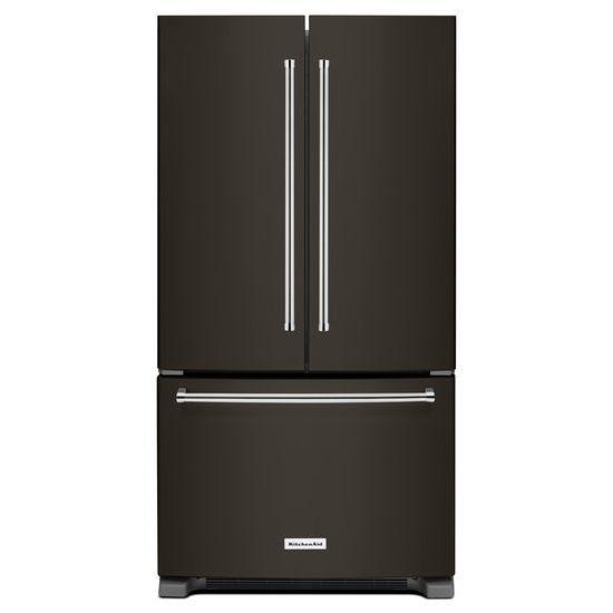 Model: KRFF305EBS | KitchenAid 25 Cu. Ft. 36-Width Standard Depth French Door Refrigerator with Interior Dispense