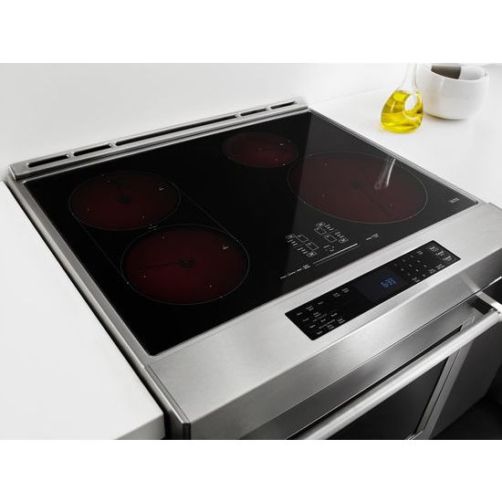 Model: KSIB900ESS | KitchenAid 30-Inch 4-Element Induction Slide-In Convection Range with Baking Drawer