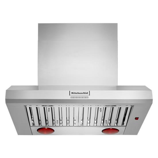"""KitchenAid 36"""" 585 or 1170 CFM Motor Class Commercial-Style Wall-Mount Canopy Range Hood"""