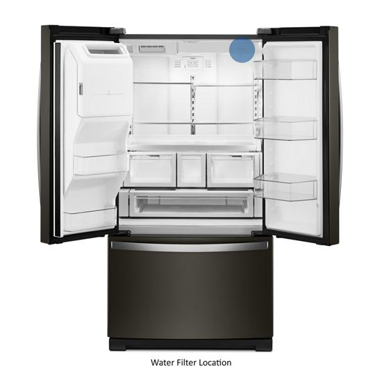 Model: WRF757SDHV | Whirlpool 36-inch Wide French Door Refrigerator - 27 cu. ft.