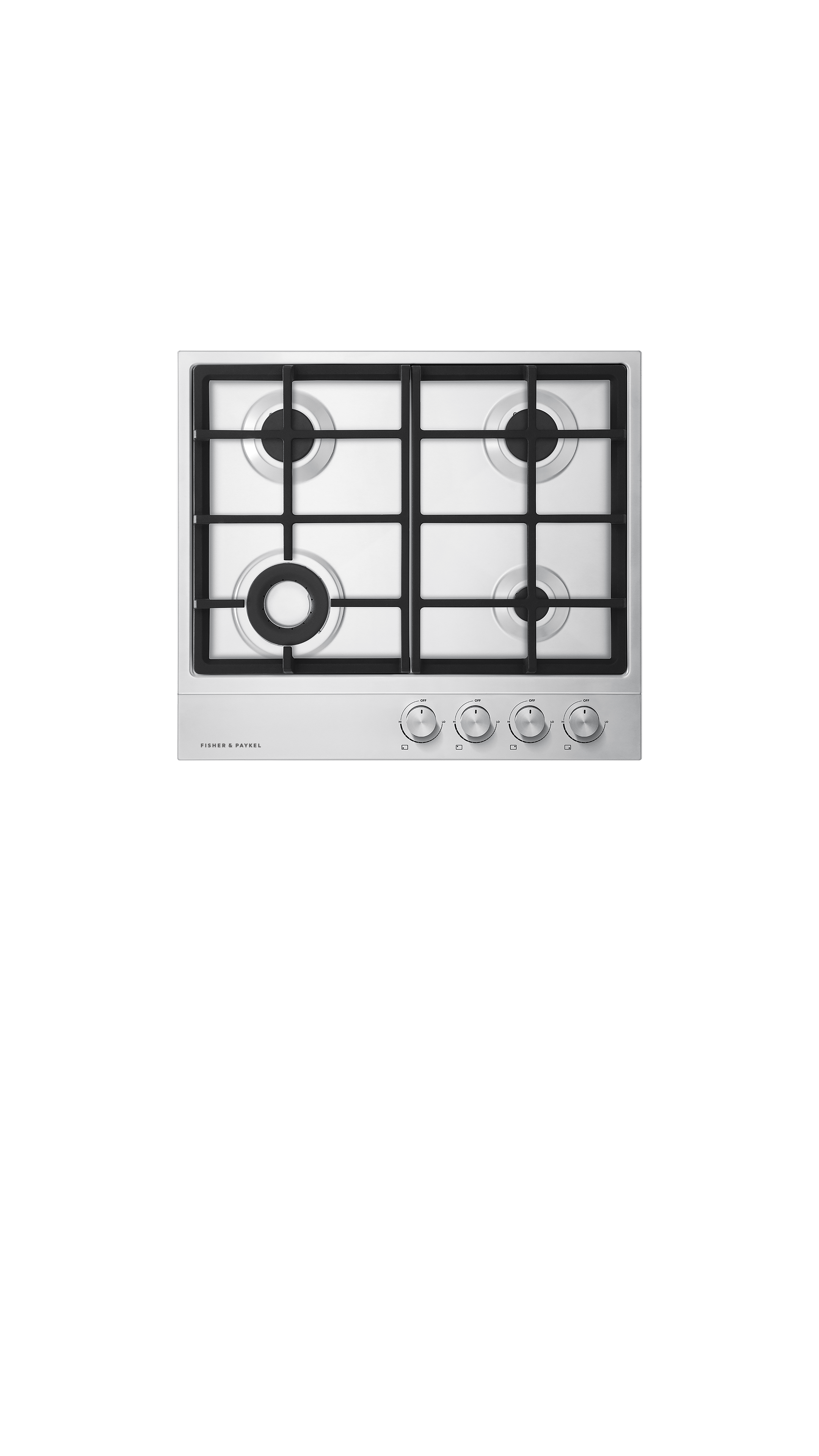 """Fisher and Paykel Gas on Steel Cooktop, 24"""", LPG"""