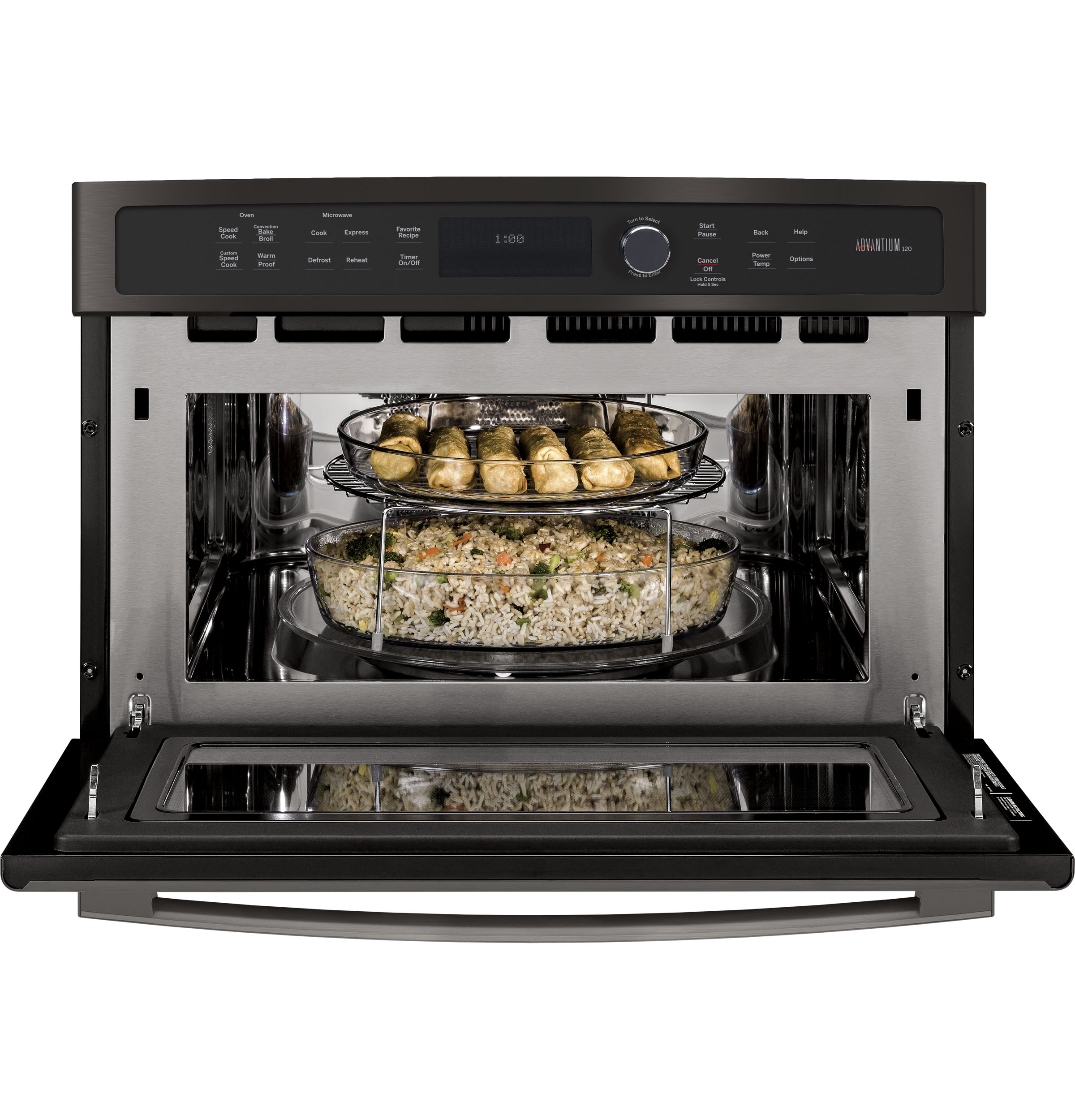 Model: PSB9100BLTS | GE Profile GE Profile™ 27 in. Single Wall Oven Advantium® Technology