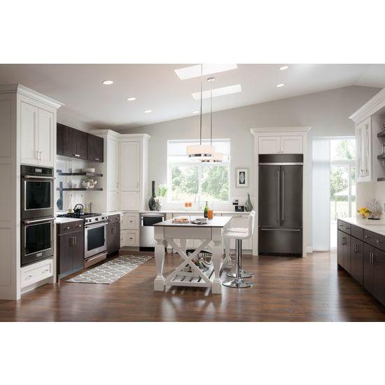 "Model: KBFN502EBS | KitchenAid 24.2 Cu. Ft. 42"" Width Built-In Stainless French Door Refrigerator with Platinum Interior Design"