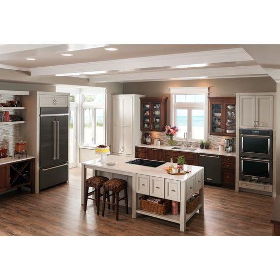 "Model: KBFN506EBS | KitchenAid 20.8 Cu. Ft. 36"" Width Built In Stainless Steel French Door Refrigerator with Platinum Interior Design"