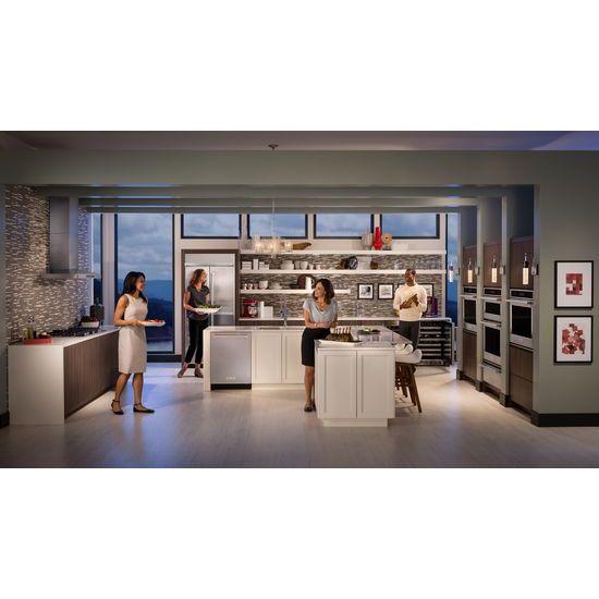 "Model: KBFN506ESS | KitchenAid 20.8 Cu. Ft. 36"" Width Built In Stainless Steel French Door Refrigerator with Platinum Interior Design"