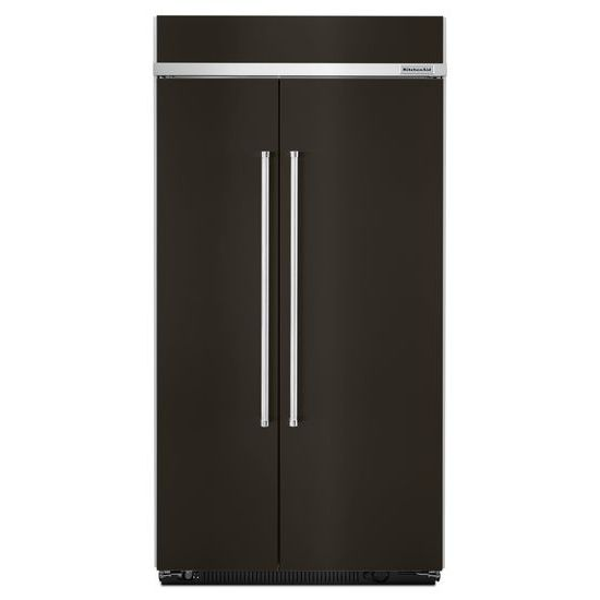 Model: KBSN602EBS   KitchenAid 25.5 cu. ft 42-Inch Width Built-In Side by Side Refrigerator with PrintShield™ Finish