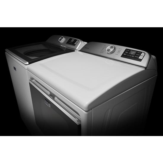 Model: MED6230HW   Maytag Smart Capable Top Load Electric Dryer with Extra Power Button - 7.4 cu. ft.