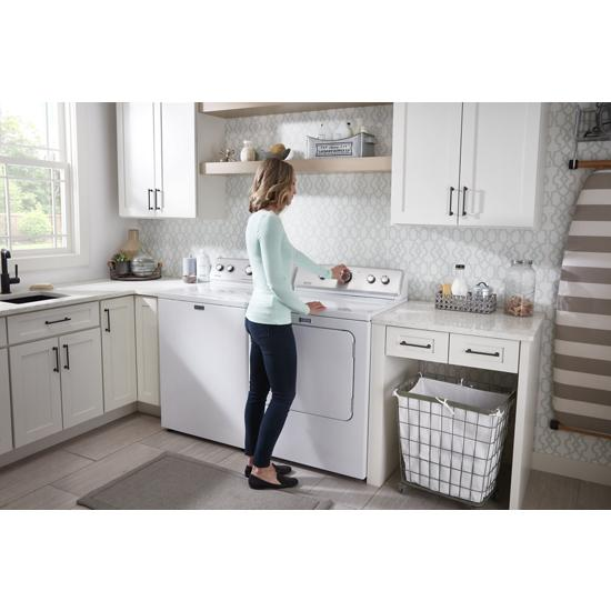 Model: MGDC465HW | Maytag Large Capacity Top Load Dryer with Wrinkle Control – 7.0 cu. ft.