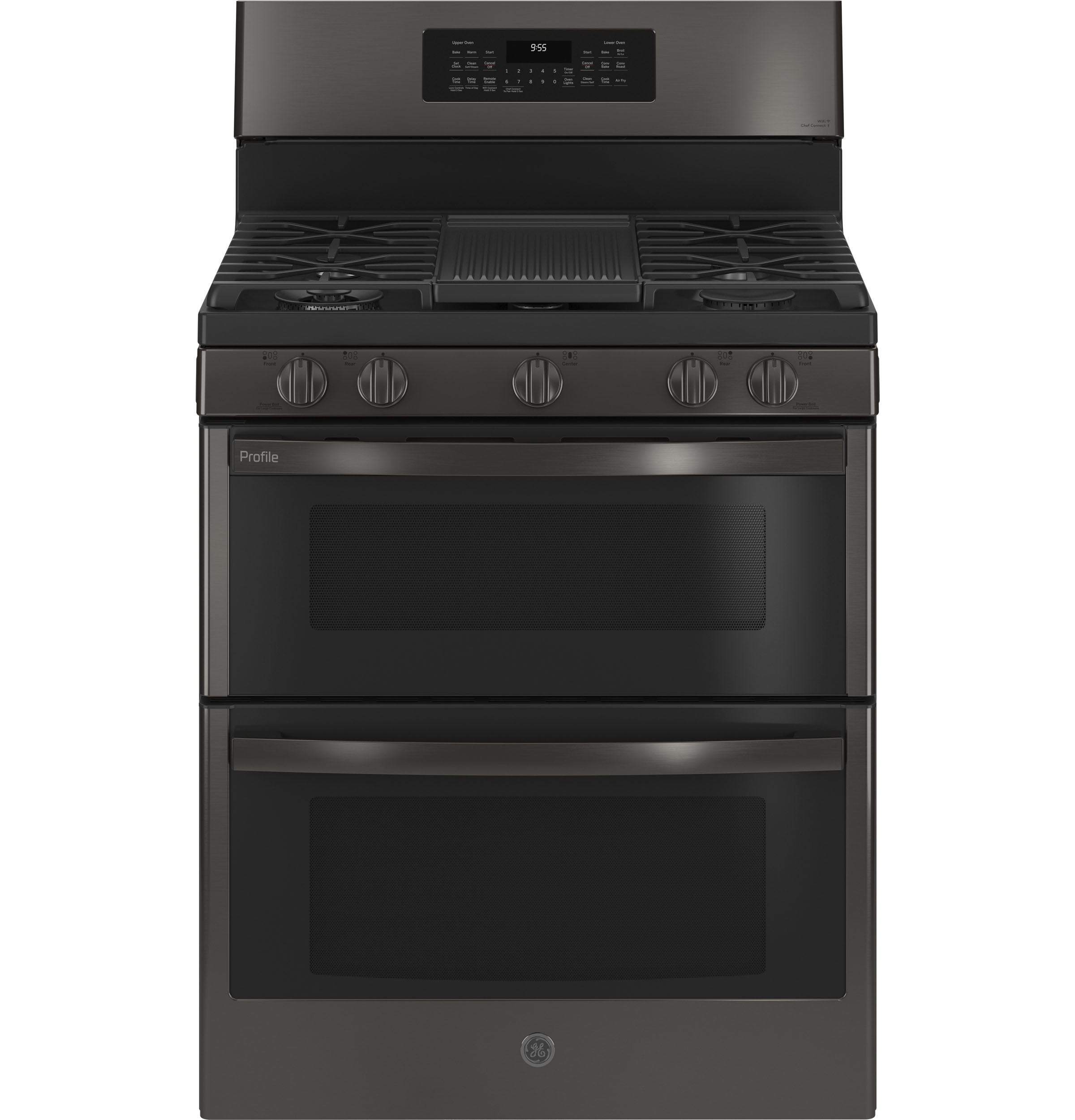 """GE Profile GE Profile™ 30"""" Free-Standing Gas Double Oven Convection Range with No Preheat Air Fry"""