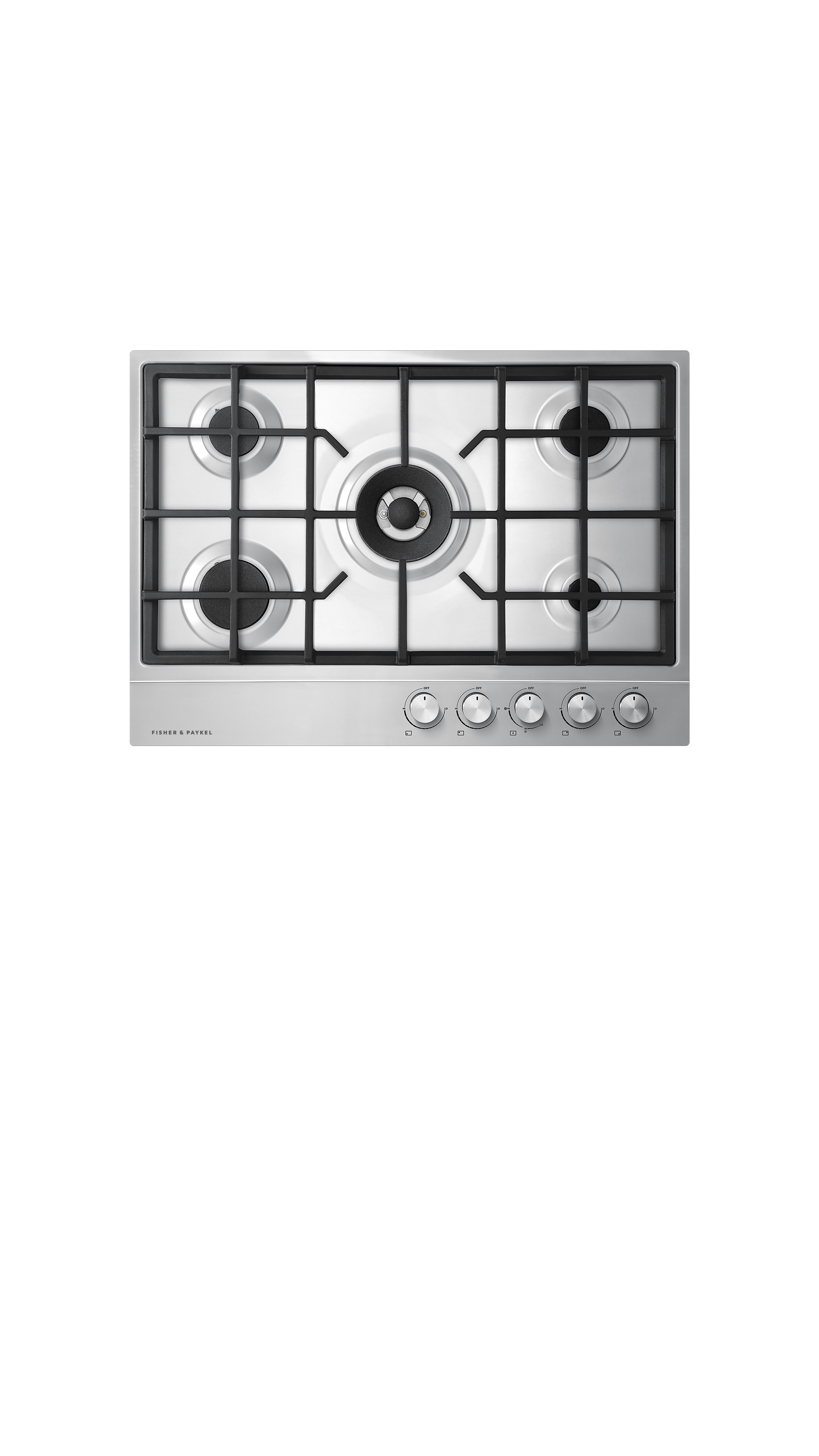 """Fisher and Paykel Gas on Steel Cooktop, 30"""", LPG"""