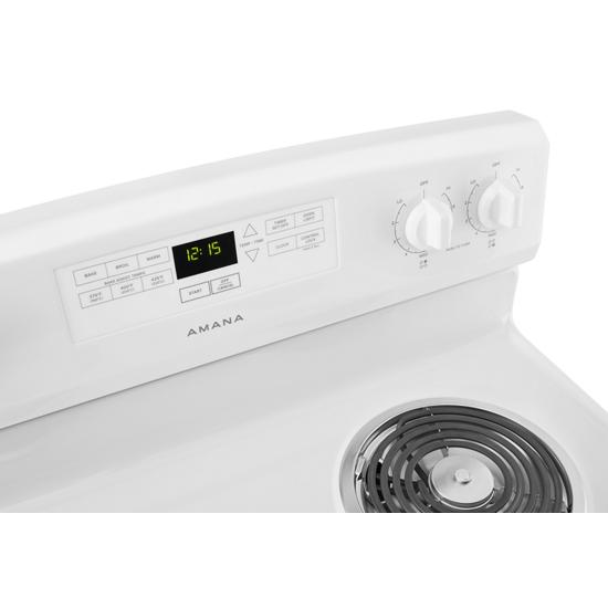 Model: ACR4303MFW | Amana 30-inch Electric Range with Bake Assist Temps