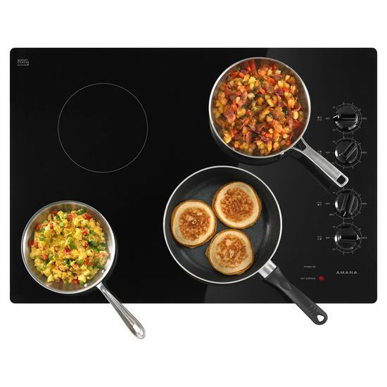 Model: AEC6540KFB | Amana 30-inch Electric Cooktop with Multiple Settings