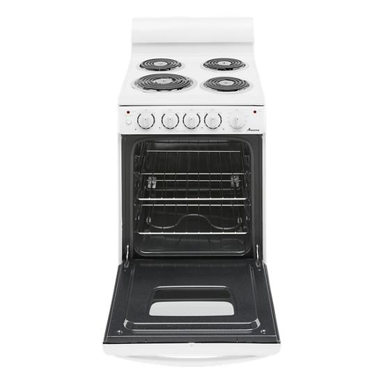 Model: AEP222VAW | Amana 20-inch Electric Range Oven with Versatile Cooktop