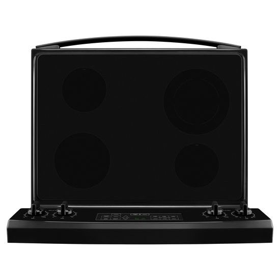 Model: AER6303MFB | Amana 30-inch Electric Range with Extra-Large Oven Window
