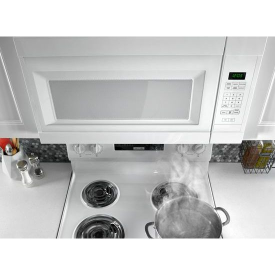 Model: AMV2307PFW | Amana 1.6 Cu. Ft. Over-the-Range Microwave with Add 0:30 Seconds