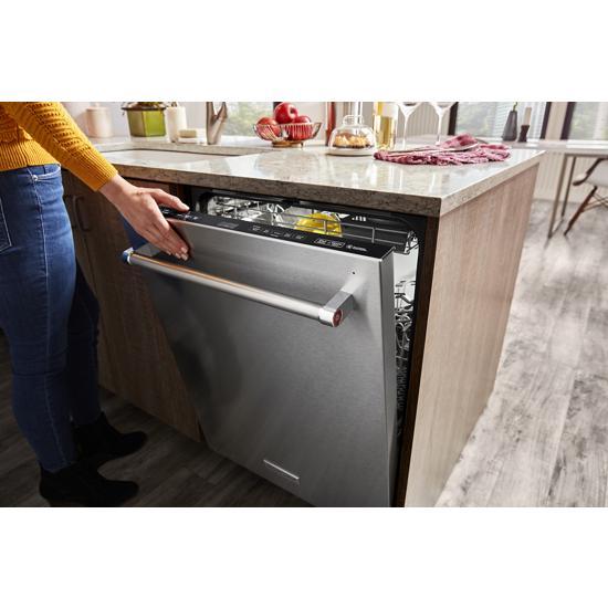 Model: KDTM804KPS   KitchenAid 44 dBA Dishwasher with FreeFlex™ Third Rack and LED Interior Lighting