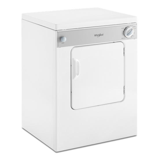 Model: LDR3822PQ | Whirlpool 3.4 cu. ft. Compact Top Load Dryer with Flexible Installation