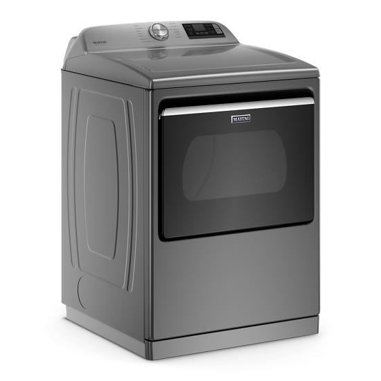 Model: MED7230HC | Maytag Smart Capable Top Load Electric Dryer with Extra Power Button - 7.4 cu. ft.