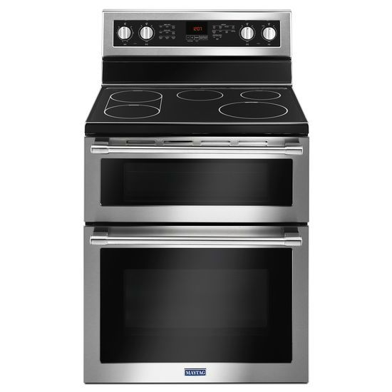 Model: MET8800FZ | Maytag 30-Inch Wide Double Oven Electric Range With True Convection - 6.7 Cu. Ft.