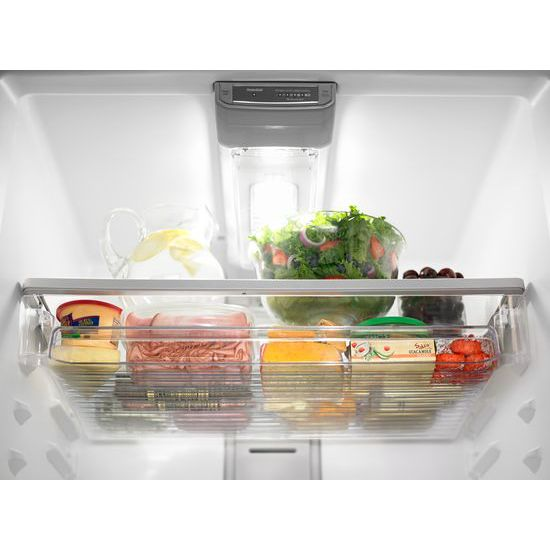 Model: MRT711SMFZ | Maytag 33-Inch Wide Top Freezer Refrigerator with EvenAir™ Cooling Tower- 21 Cu. Ft.