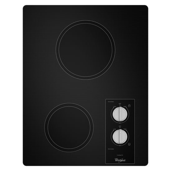 Whirlpool 15-inch Electric Cooktop with Easy Wipe Ceramic Glass