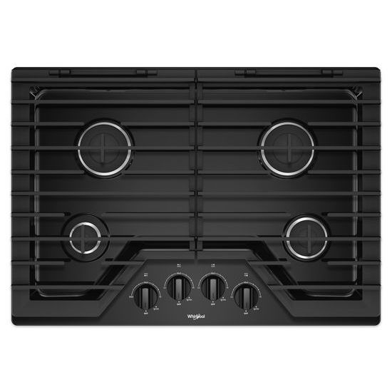 Whirlpool 30-inch Gas Cooktop with EZ-2-Lift™ Hinged Cast-Iron Grates