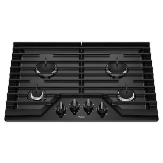 Model: WCG55US0HB | Whirlpool 30-inch Gas Cooktop with EZ-2-Lift™ Hinged Cast-Iron Grates