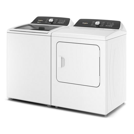 Model: WED5050LW   Whirlpool 7.0 Cu. Ft. Top Load Electric Moisture Sensing Dryer with Steam