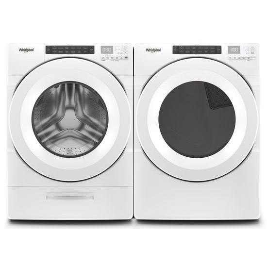 Model: WED560LHW   Whirlpool 7.4 cu.ft Front Load Long Vent Electric Dryer with Intuitive Controls